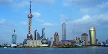 Oriental Pearl Tower which includes skyline, a city and modern architecture