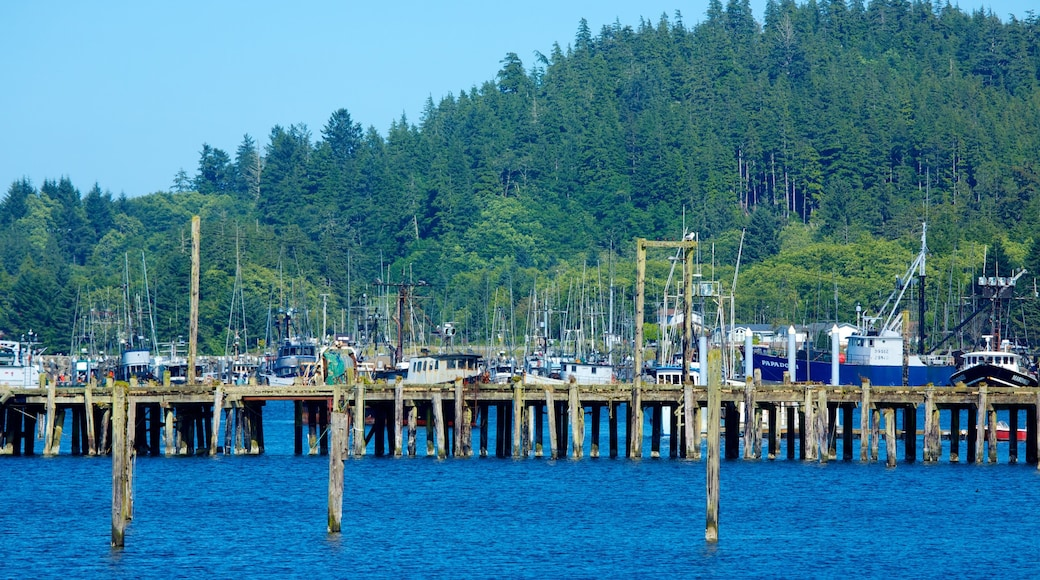 Neah Bay which includes boating, a marina and a bay or harbour