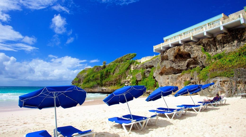 Crane Beach which includes a beach, a coastal town and general coastal views