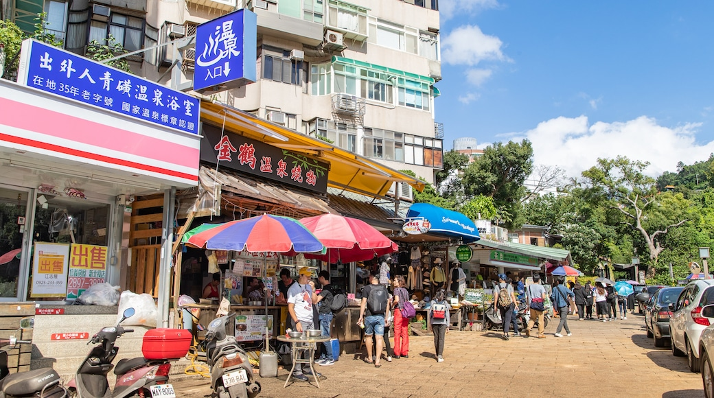 Beitou which includes street scenes