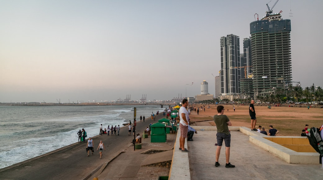 Colombo featuring general coastal views, a sunset and a coastal town