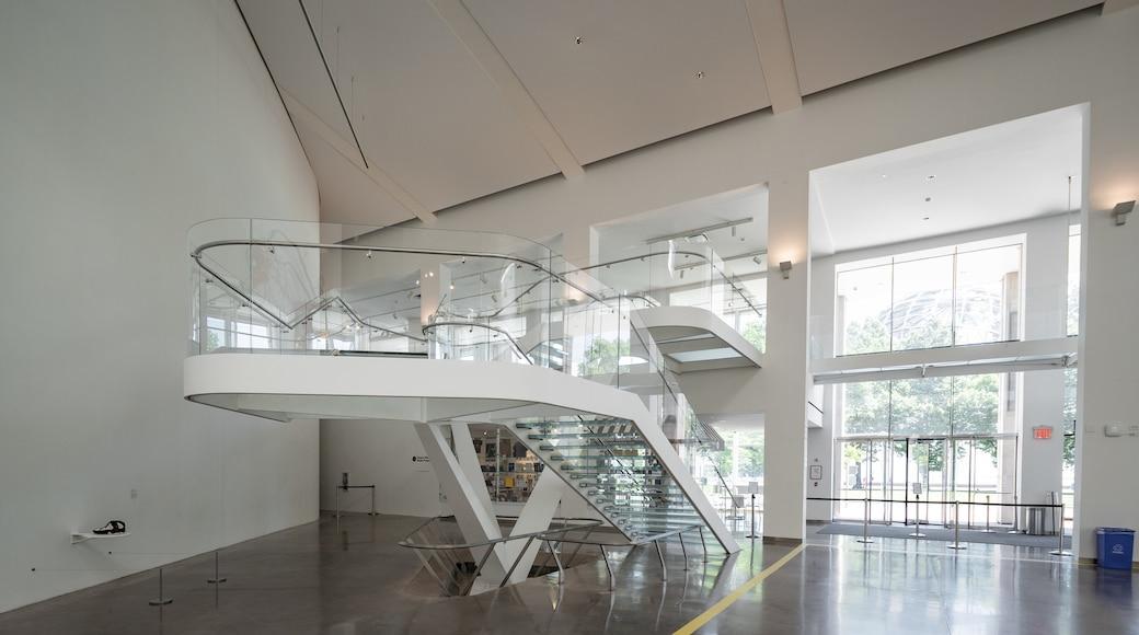Queens Museum of Art showing interior views