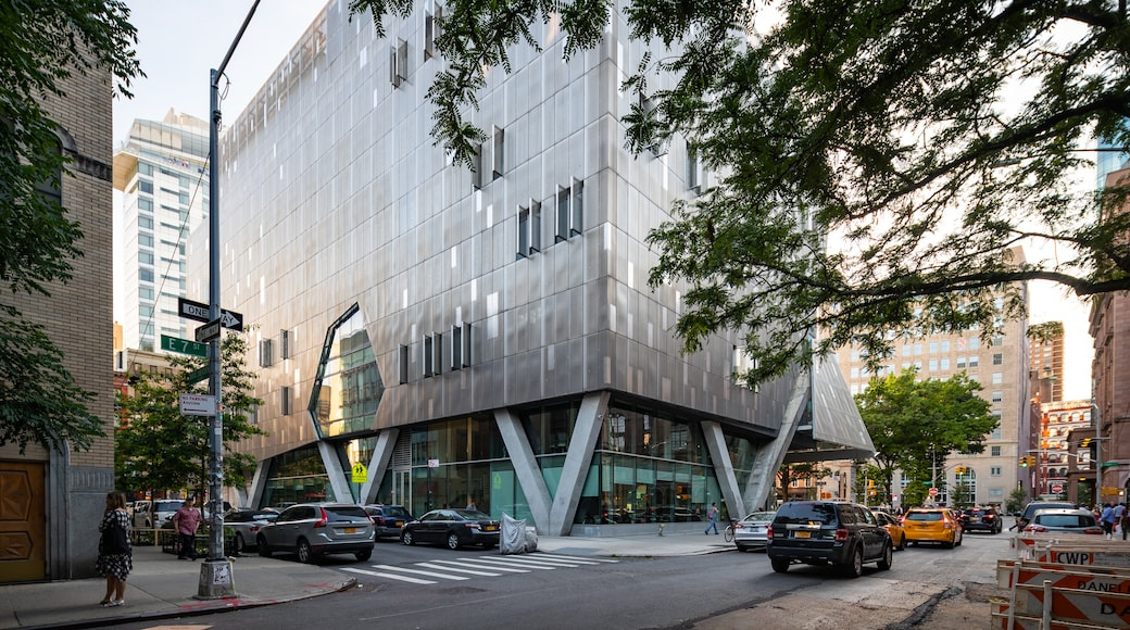 The Cooper Union for the Advancement of Science and Art featuring modern architecture, a city and street scenes