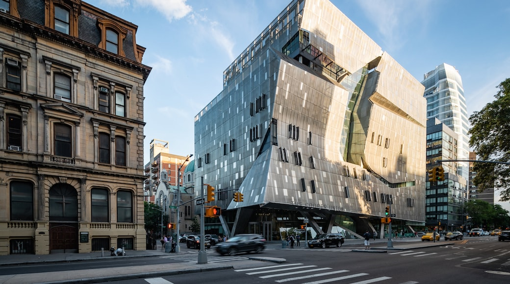 The Cooper Union for the Advancement of Science and Art showing a city, street scenes and modern architecture