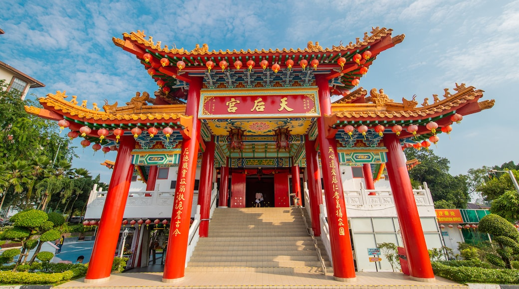 Thean Hou Temple featuring heritage elements and signage