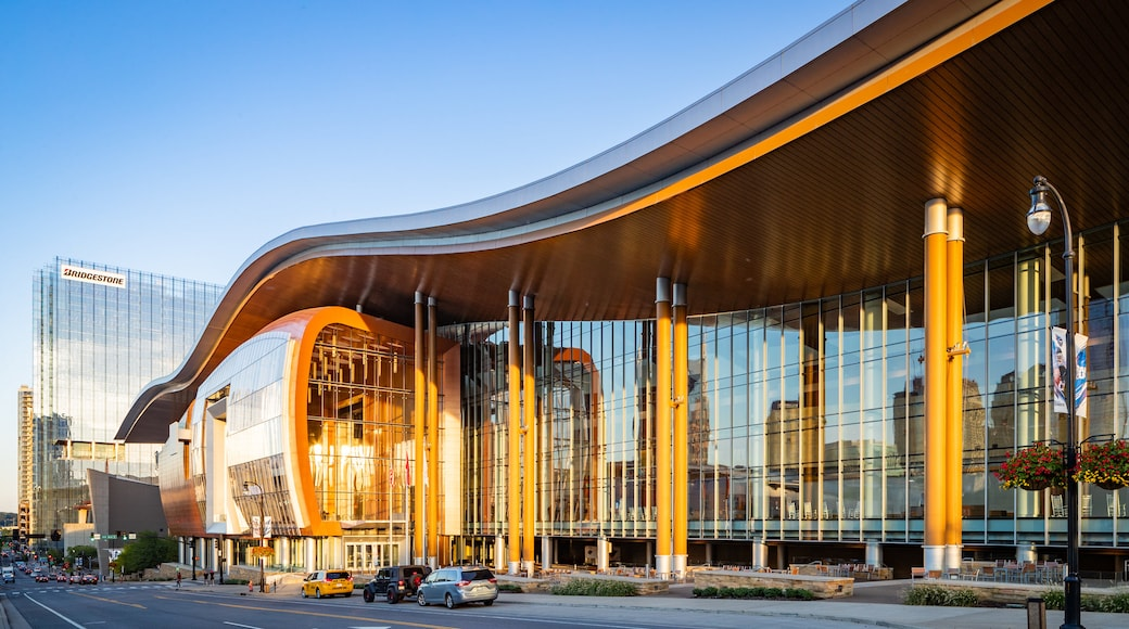 Music City Center showing modern architecture and a city