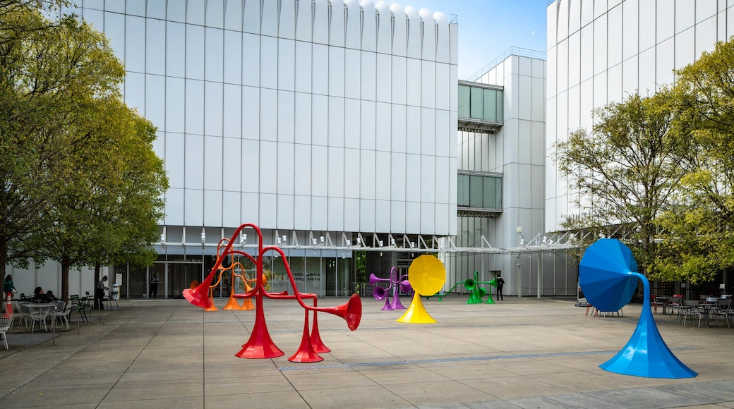Woodruff Arts Center showing a square or plaza and outdoor art