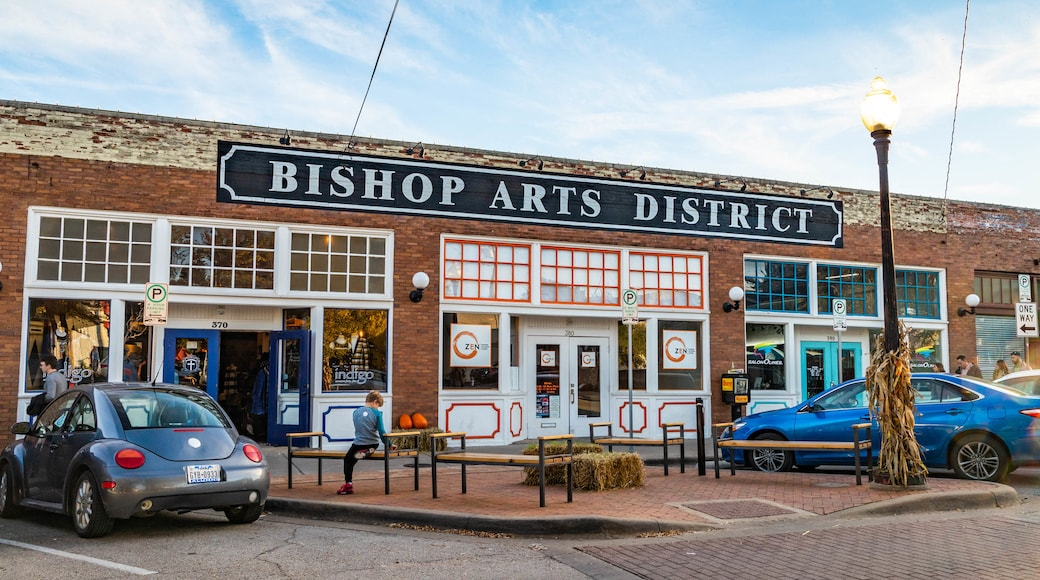 Bishop Arts District which includes signage
