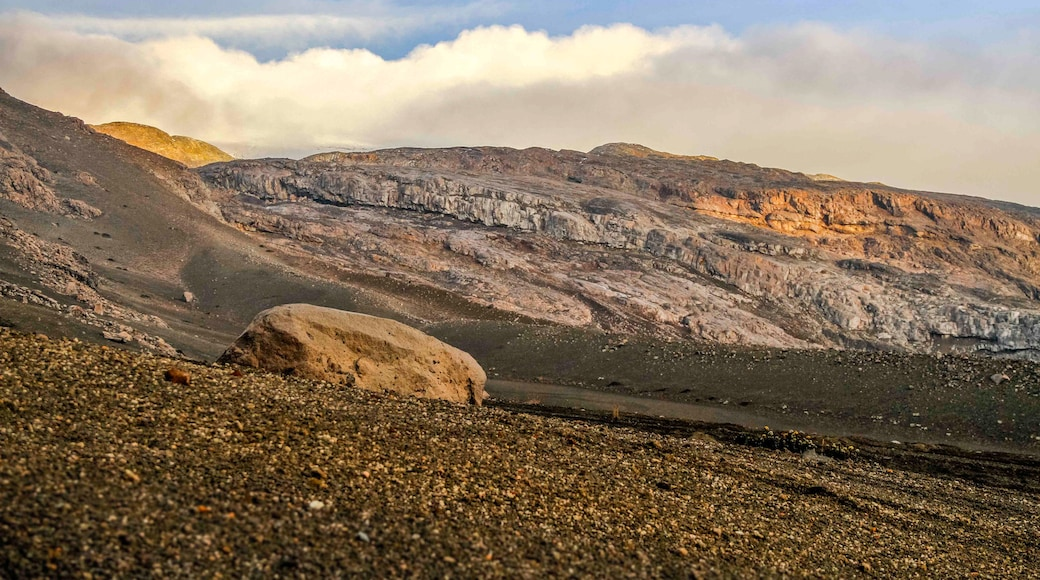 Los Nevados National Park which includes a sunset and desert views