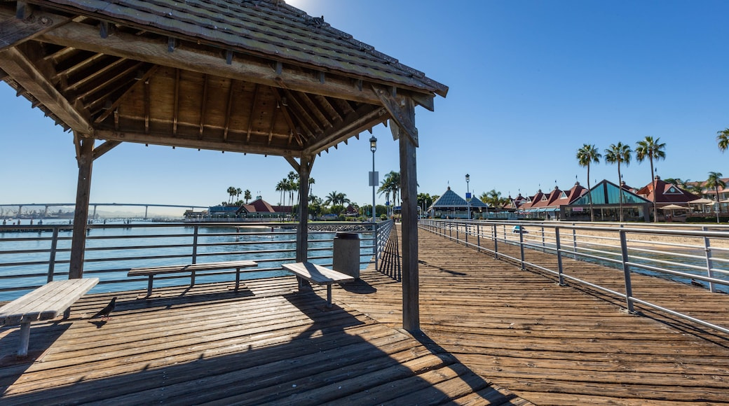 Coronado Ferry Landing which includes a lighthouse
