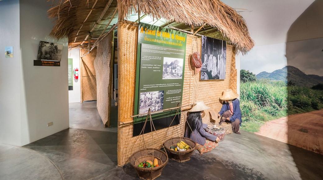 Thailand-Burma Railway Centre showing interior views