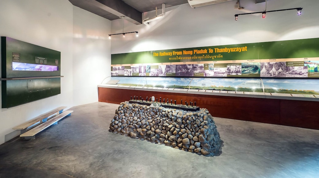Thailand-Burma Railway Centre featuring interior views