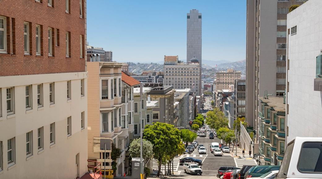 Downtown San Francisco showing a city