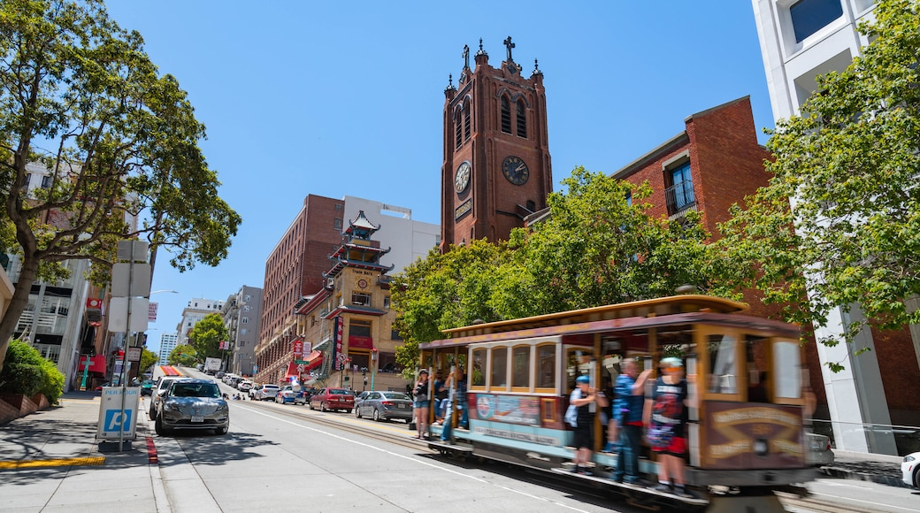 Downtown San Francisco featuring railway items