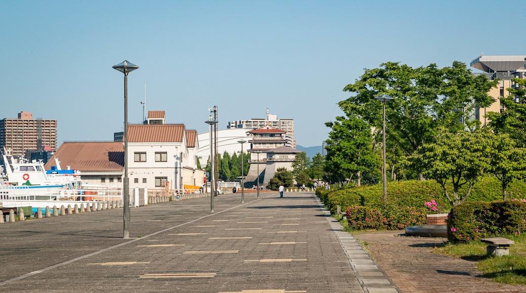 Lake Biwa showing a garden