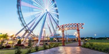 Branson Ferris Wheel featuring a garden and night scenes