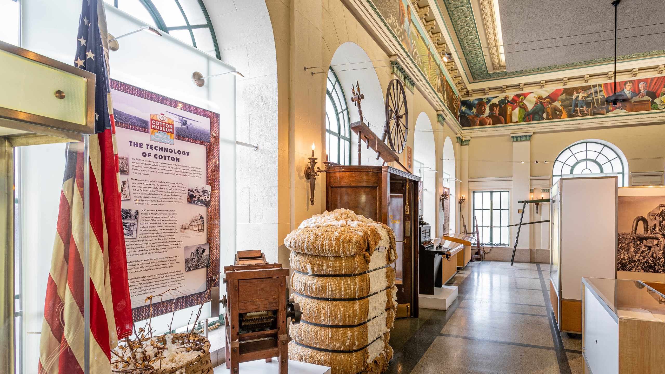 The Cotton Museum at the Memphis Cotton Exchange, Memphis, Tennessee, United States of America