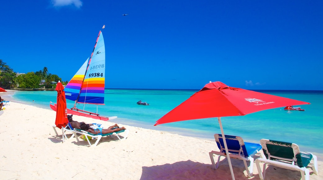 Dover Beach which includes a beach, general coastal views and tropical scenes