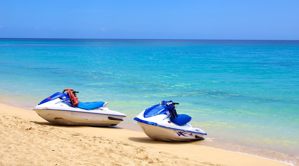 Mullins Beach featuring jet skiing and a beach
