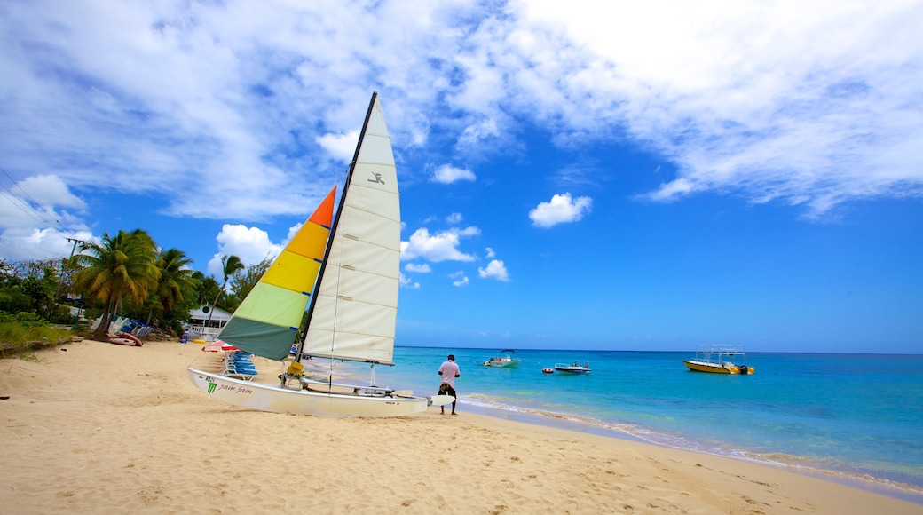Mullins Beach featuring sailing, boating and tropical scenes