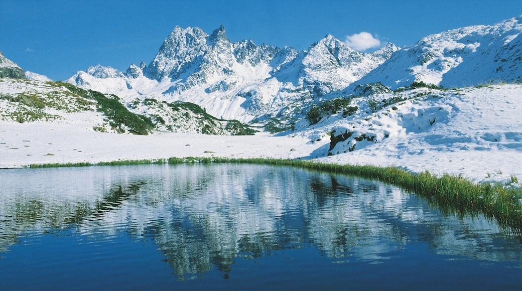 Lech am Arlberg das einen Schnee, Landschaften und Berge