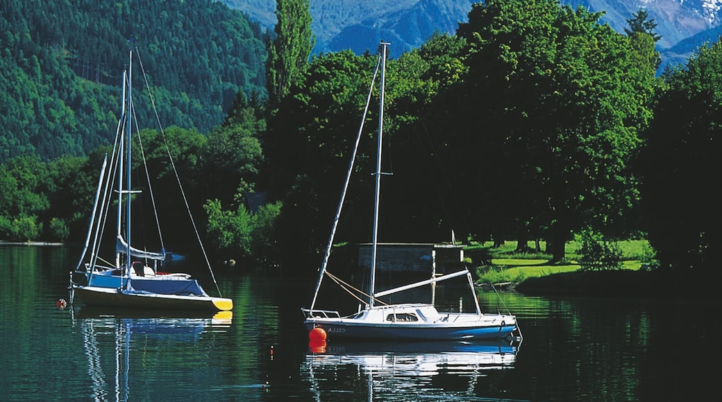 Zell am See which includes a lake or waterhole, boating and sailing