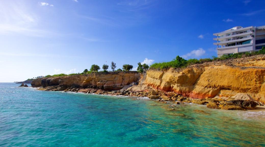 Cupecoy featuring rocky coastline