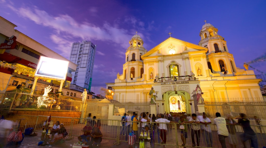 Quiapo Church showing a city, a church or cathedral and religious aspects