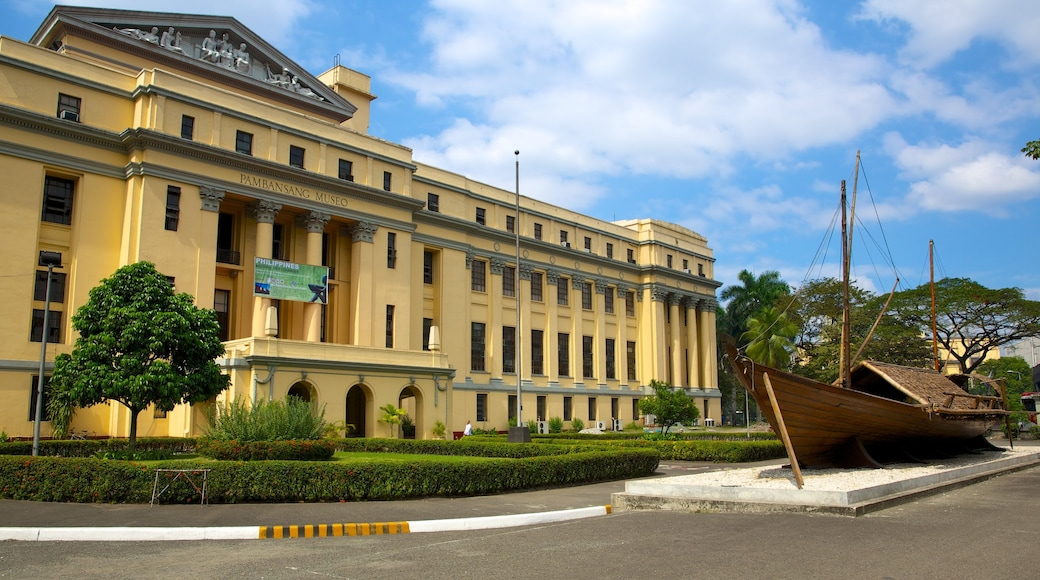 National Museum of the Filipino People which includes street scenes, heritage architecture and a city