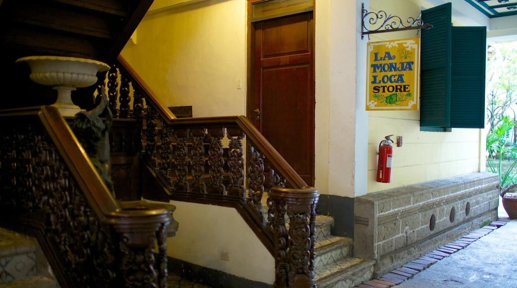 Casa Manila Museum featuring interior views and signage