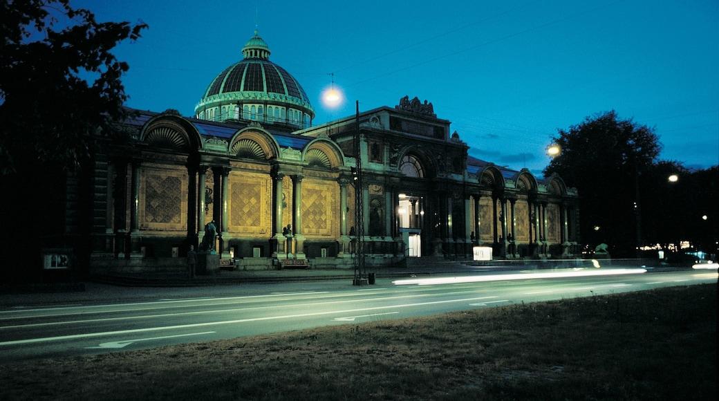 Ny Carlsberg Glyptotek welches beinhaltet Kirche oder Kathedrale, bei Nacht und historische Architektur