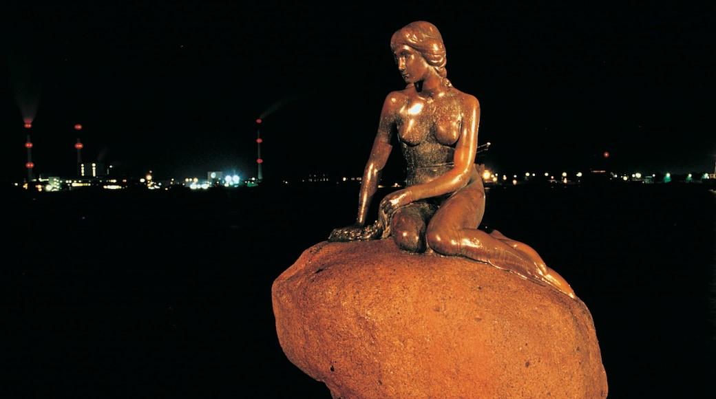 Den lille havfrue fasiliteter samt monument, statue eller skulptur og kunst