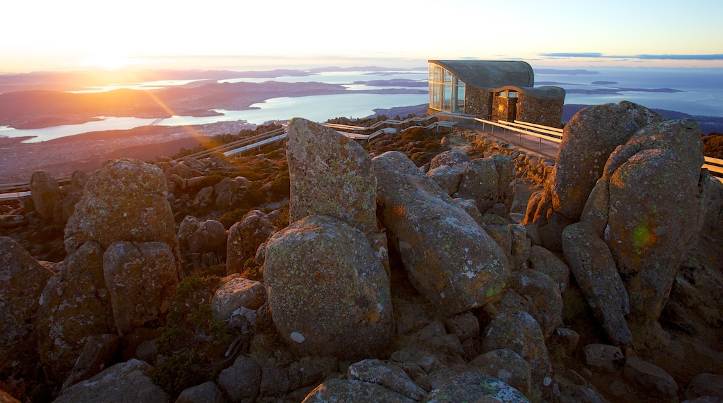 Mt. Wellington which includes landscape views, general coastal views and a sunset