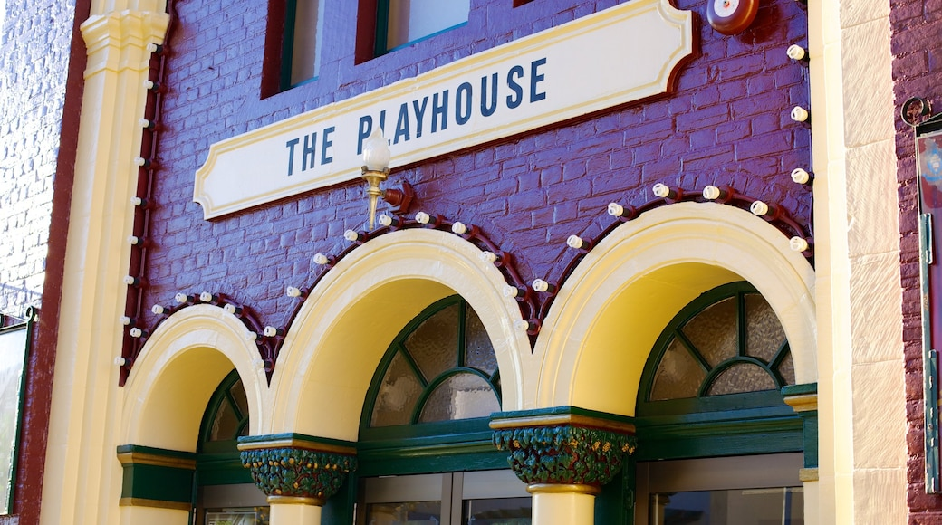 Playhouse Theatre featuring theatre scenes and signage