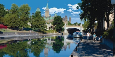 Ottawa showing a city, a river or creek and cycling