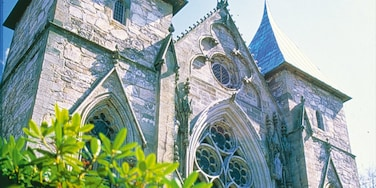 Stavanger Cathedral featuring heritage architecture, a church or cathedral and religious aspects