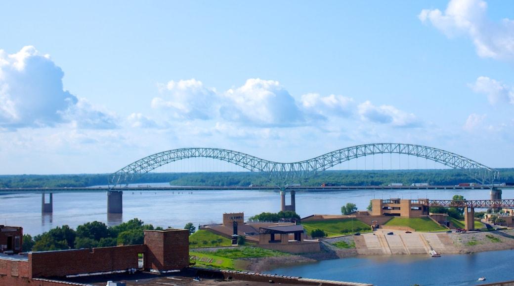 Memphis showing a river or creek and a bridge