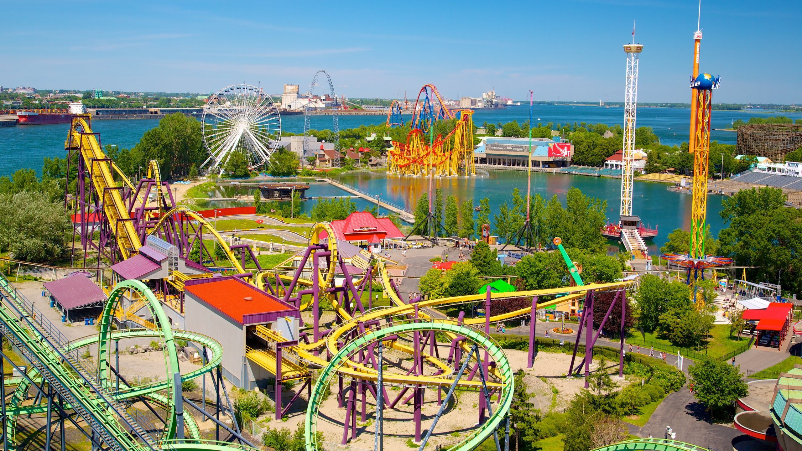 Montreal's favorite amusement park lights up the night sky in summertime, and has some of the highest and fastest roller coasters in Canada.