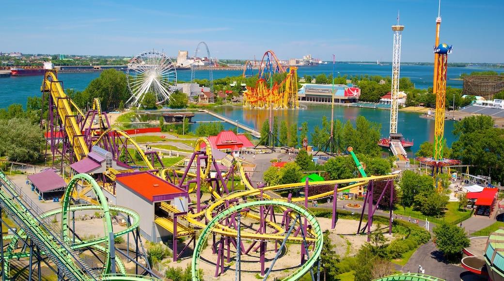 La Ronde六旗樂園 其中包括 海灣或海港, 城市 和 遊樂設施