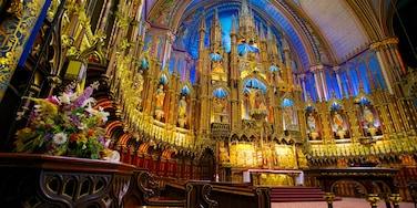 Notre-Dame-Basilika welches beinhaltet Innenansichten, Kirche oder Kathedrale und religiöse Elemente