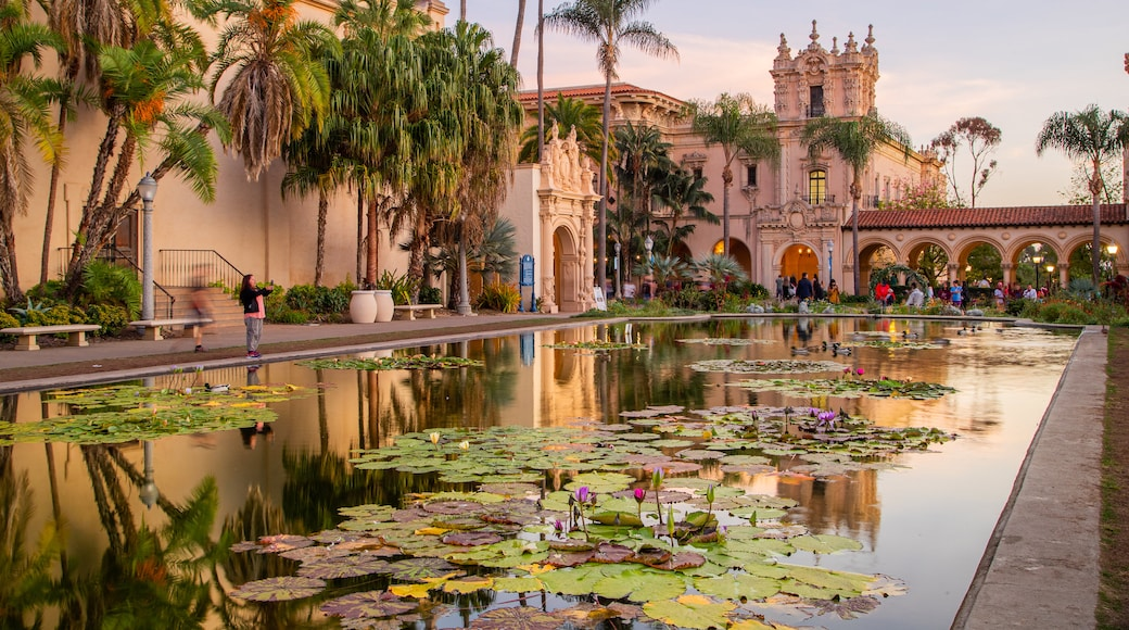 Balboa Park which includes a pond