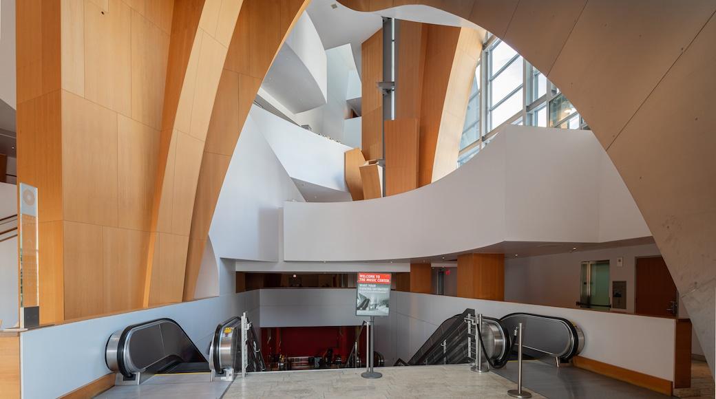 Walt Disney Concert Hall featuring interior views