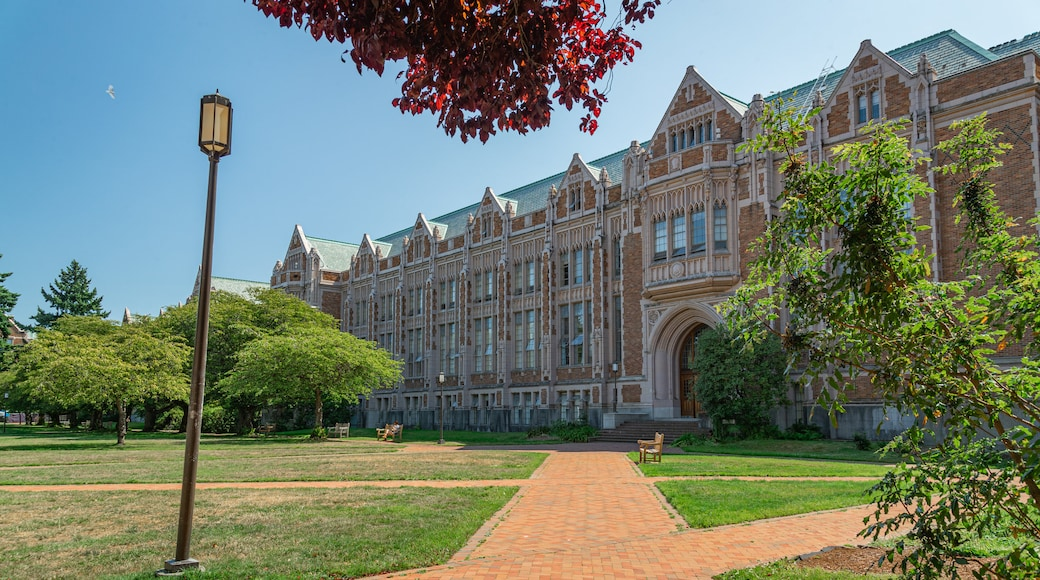 University of Washington which includes heritage architecture and a garden
