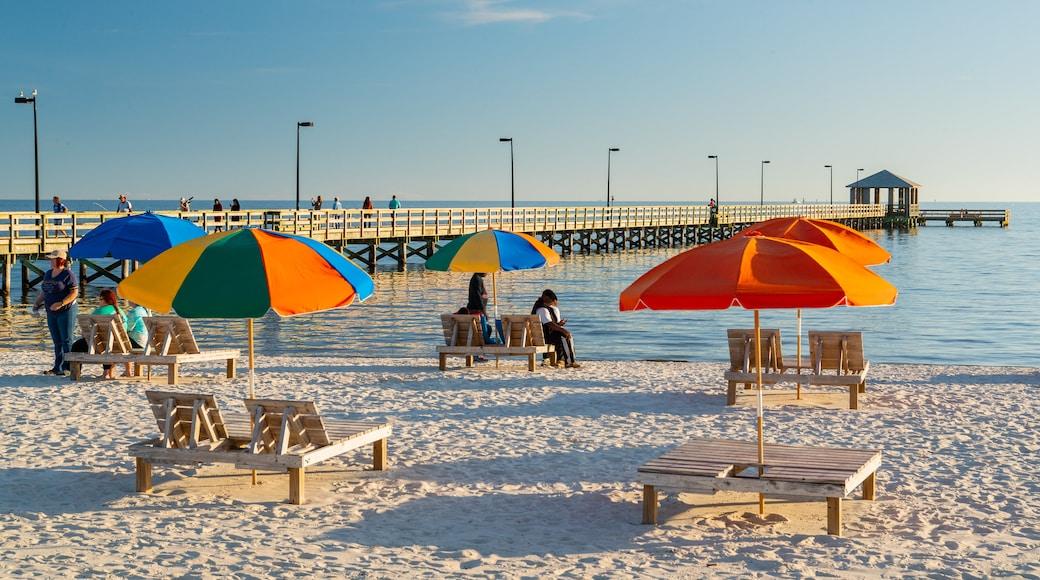 Biloxi Beach showing a sandy beach and general coastal views