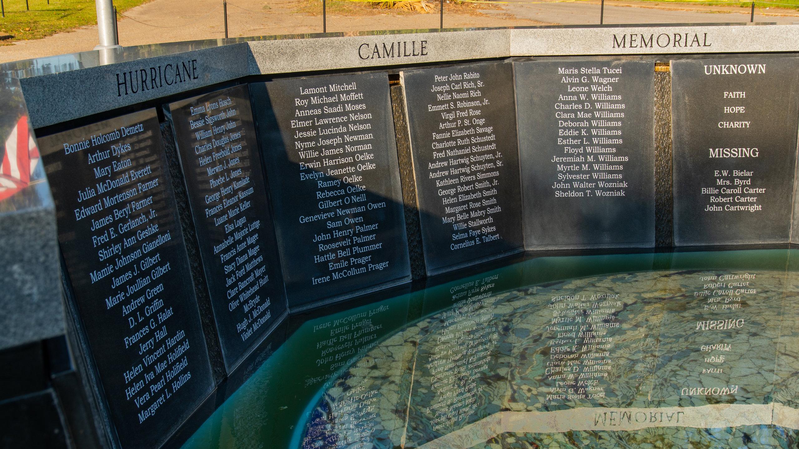Hurricane Camille Memorial, East Biloxi, Mississippi, United States of America