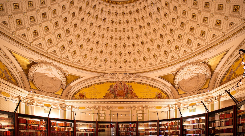 Library of Congress featuring an administrative buidling, interior views and heritage elements
