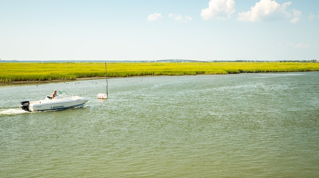 North Wildwood featuring boating and wetlands