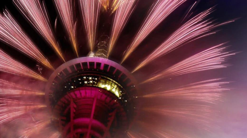 Macau Tower showing night scenes