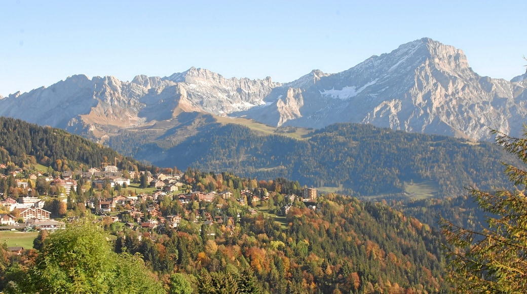 Villars-sur-Ollon featuring a small town or village, mountains and tranquil scenes