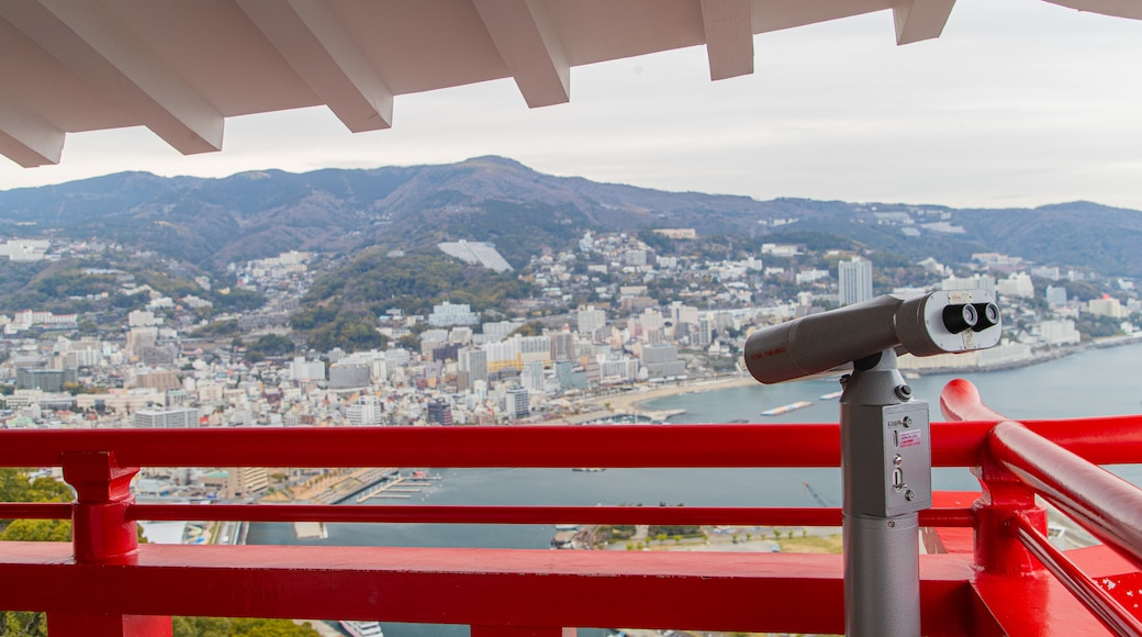 Atami Castle which includes a city and views